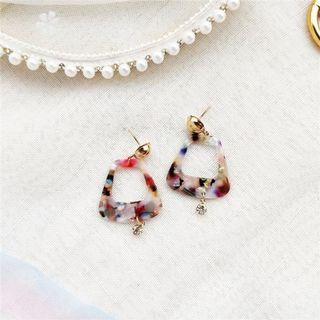 Geometric Acrylic Multicoloured Stud Earrings