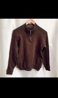 Golden bear sweater or jaket wanita coklat vintage