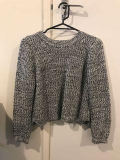 Grey Crop Knit