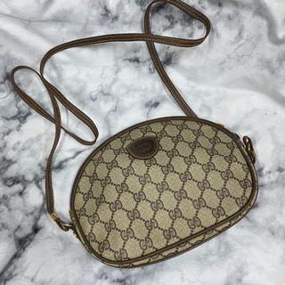 Gucci 圓餅包 側背包 滿版 pvc近新美 瑞奇
