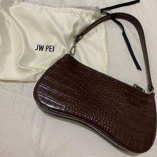 JW PEI EVA SHOULDER BAG - BROWN CROC