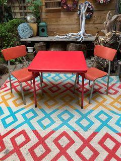 Kids folding table and 2 chairs