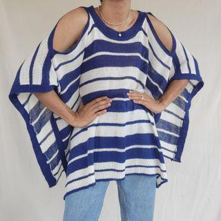 Knitted Poncho Beach Coverup