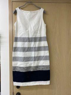MAX Mara 橫條紋 洋裝 輕薄透氣夏天