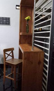 Minibar and kursi ikea ingolf