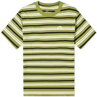 限時特價!Nike SB 草綠色橫條紋短袖T-shirt上衣 T恤-XS號