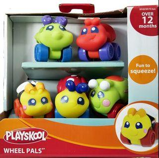 Original Playskool Wheel Pals Bugs 7 pcs