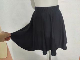 Rok mini kembang mini skirt high quality rok pendek hitam dan polkadot