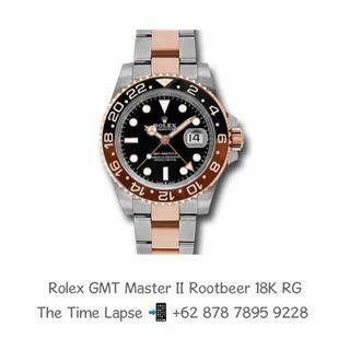 Rolex GMT Master II, Rootbeer Ceramic Steel & 18K Rose Gold 'Random'