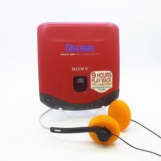 【赤色美品★動作品】Sony Discman/Walkman D-135 Portable CD Player In Excellent Working Condition. Made in Japan!