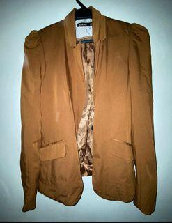 Stradivarius padded shoulder coat