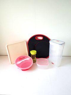 New Tupperware Barilla Lunchbox Water Bottle Insulated Carrier Fork Spoon Dabao Takeaway Tiffin Food Storage