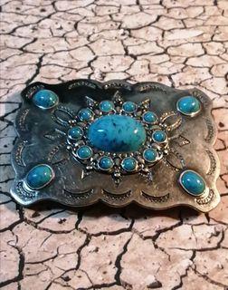 Turquoise Gemstone Belt Buckle