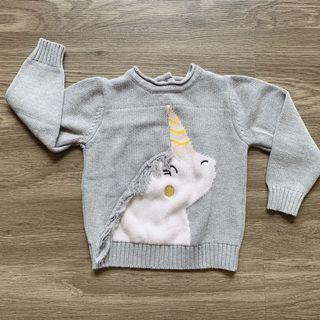 Unicorn sweater Preloved Very Good Condition size 12-18 months