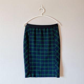 Uniqlo 經典格紋窄裙 鉛筆裙