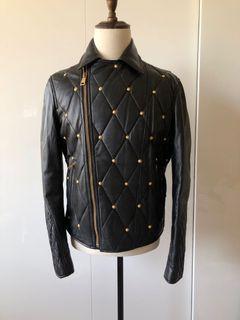 Versace 羊皮 鋪棉騎士外套