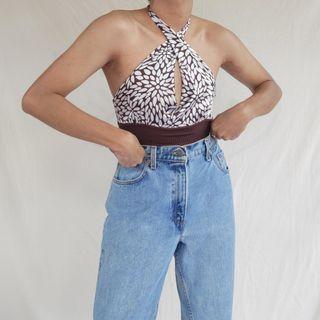 Vintage Bebe Silk Halter Top