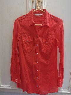 Zara orange polo