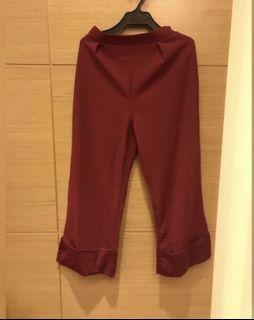 紅色西裝褲