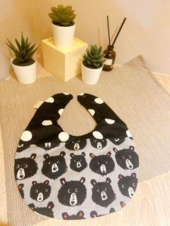 加厚雙面圍兜-黑熊點點+滿版熊貓