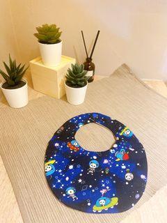 加厚雙面圍兜-太空熊貓+彩色星星
