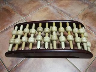 背伸脊椎伸展按摩架(木製滾輪型)