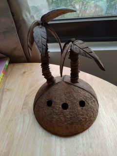 椰子殼筆座 椰子樹 海島
