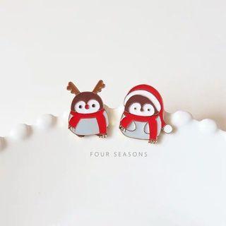 可愛 小企鵝 胸針 筆袋 學生 卡通 日系 别针 簡約 裝飾 女 包包 衣服 徽章 掛飾