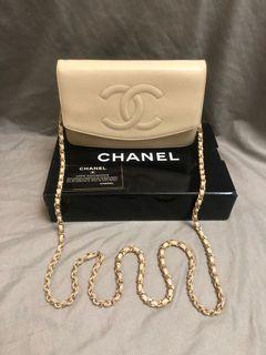 正品 Chanel 荔枝皮壓紋woc