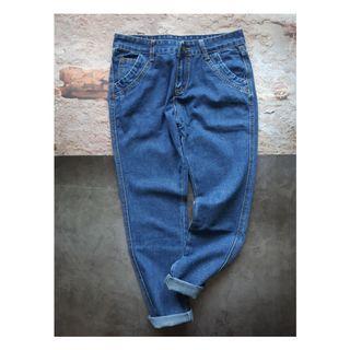 素色基本款牛仔褲 L