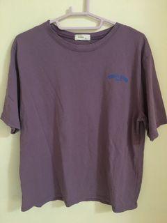 韓 紫色史努比衝浪板短袖T恤