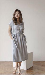 Abbeytale Sabin Dress in Dusty Blue