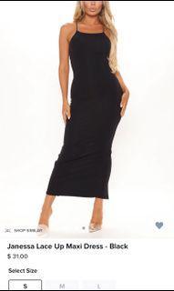 Black bodycon maxi dress