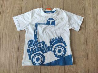 Blue Zoo Blue Truck White Shirt
