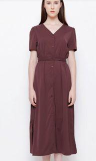 Chocochips Valerie Maxi Dress in Maroon Size S