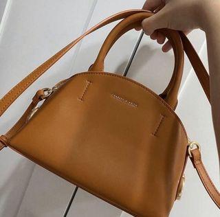 全新小ck黃色肩背手提包