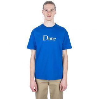 Dime 滑板品牌 藍色短t