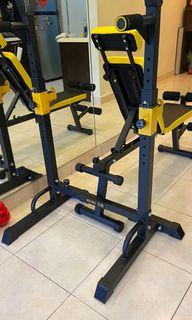 Dumbbell bench and barbell stand