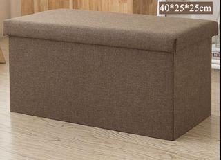 Foldable Storage Box Footrest