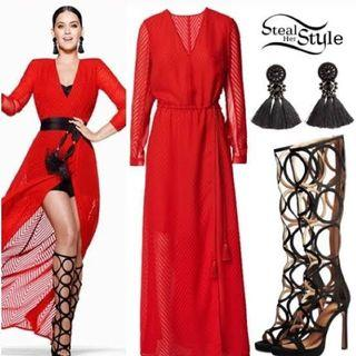 H&M x Katy Perry V neck, maxi dress