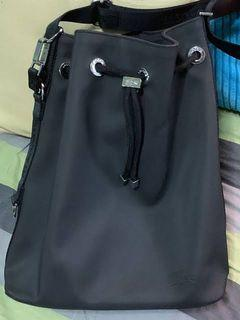 LACOSTE Black Nylon Hobo Bag (Preloved)