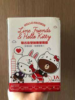 LINE&Hello Kitty 聯名耐熱玻璃罐