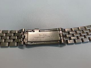 MaruMan 古董 不銹鋼 弧形 19mm 錶帶