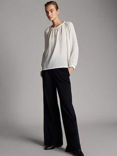 massimo dutti ivory white blouse top