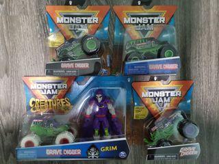 Monster Jam Grave Digger Chase Trucks