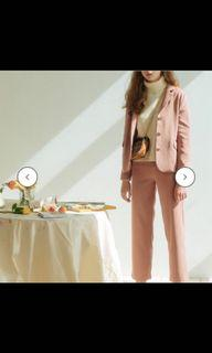 Pazzo粉色西裝套裝(外套+長褲)