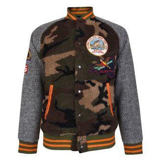 Polo Ralph Lauren patched fleece jacket camo 迷彩 搖粒絨 拼貼 棒球外套 貼布 布章