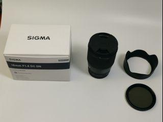 Sigma 16mm f1. 4 DC DN lens