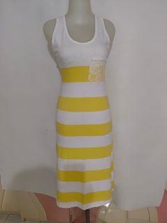 Terusan panjang pas badan Peniwern bodycon stripes tanktop long dress
