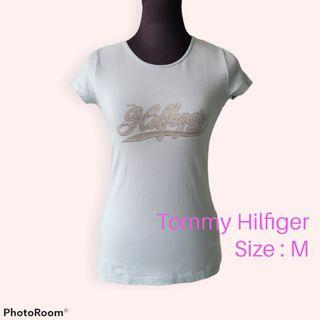 Tommy Hilfiger Baby Blue Stretchable T-Shirt